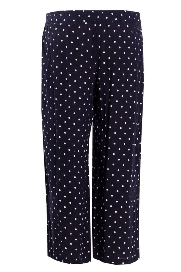 Polka Dot Culotte Pants - Navy Womens Pants FAIRWEATHER