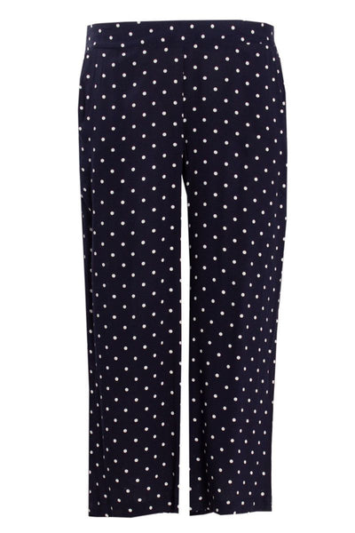 Polka Dot Culotte Pants - Navy Womens Pants FAIRWEATHER S