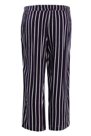 Striped Culotte Pants - Navy Womens Pants FAIRWEATHER