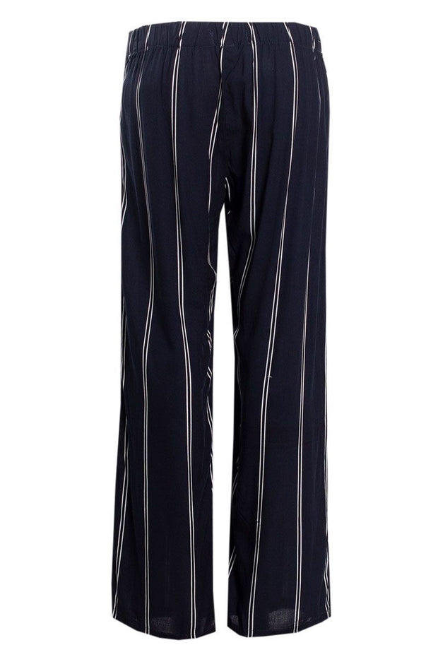 Striped Belted Palazzo Pants - Navy Womens Pants FAIRWEATHER