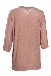 3/4 Sleeve Cardigan - Pink Womens Cardigans FAIRWEATHER