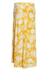 Floral High-Low Maxi Skirt - Yellow Womens Skirts FAIRWEATHER