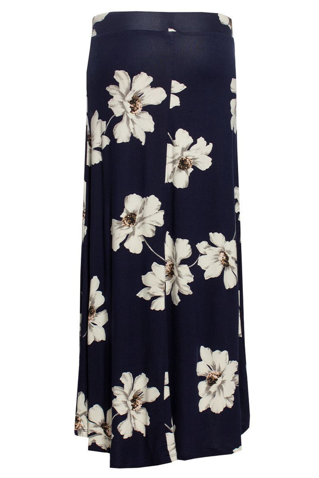Floral High-Low Maxi Skirt - Navy Womens Skirts FAIRWEATHER