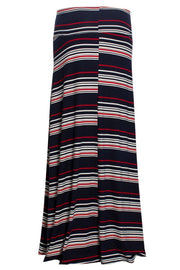 Striped Maxi Skirt - Navy Womens Skirts FAIRWEATHER