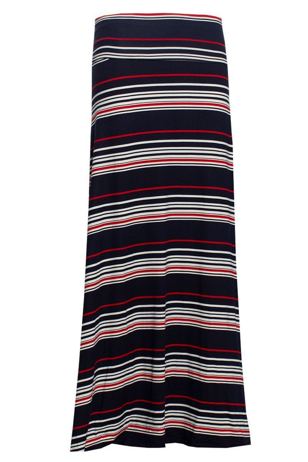 Striped Maxi Skirt - Navy Womens Skirts FAIRWEATHER S