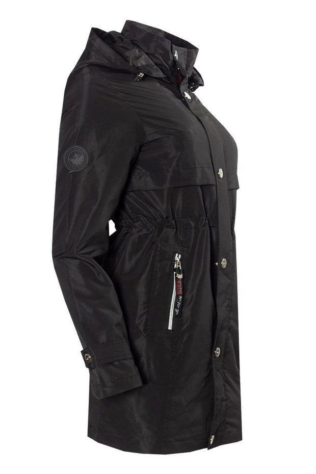 Canada Weather Gear Anorak Jacket - Black Womens Anorak Jackets FAIRWEATHER