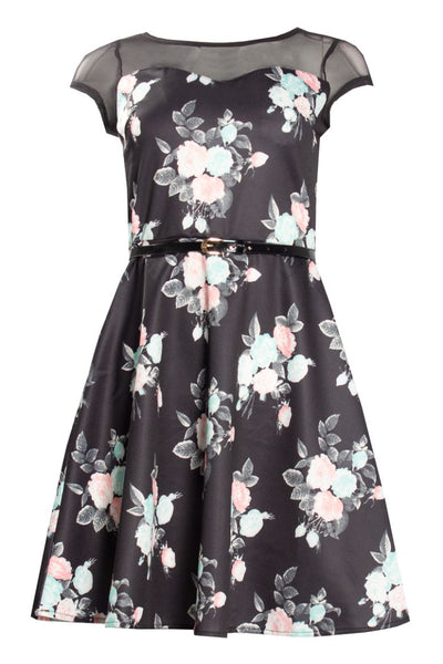 Floral Day Dress - Black Womens Day Dresses FAIRWEATHER S