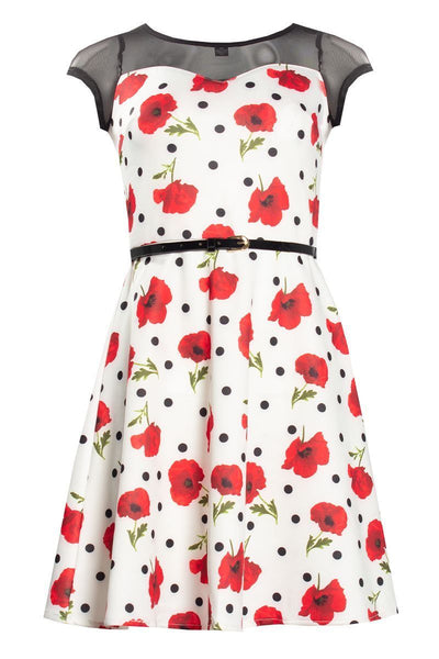 Floral Day Dress - White Womens Day Dresses FAIRWEATHER S