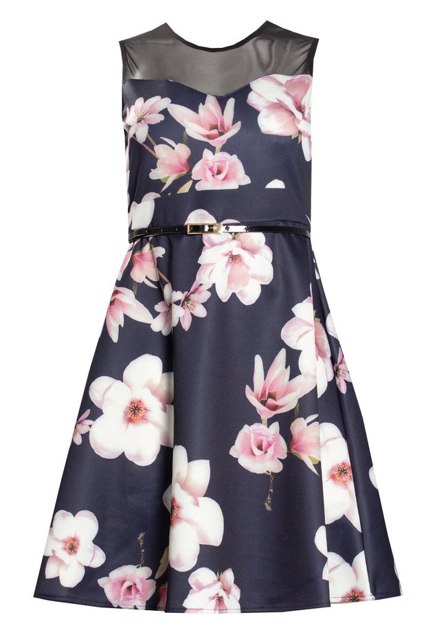 Floral Day Dress - Navy Womens Day Dresses FAIRWEATHER S