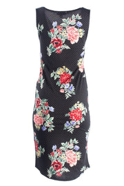 Floral Midi Sundress With Round Hem - Black Sundresses FAIRWEATHER