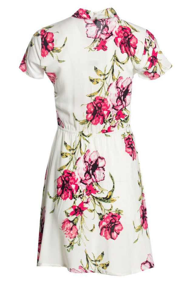 Floral Button-Up Sundress - White Womens Sundresses FAIRWEATHER