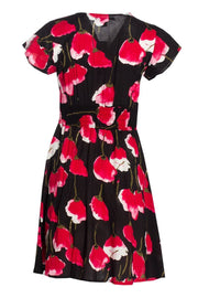 Floral Button-Up Formal Dress - Black Womens Formal Dresses FAIRWEATHER