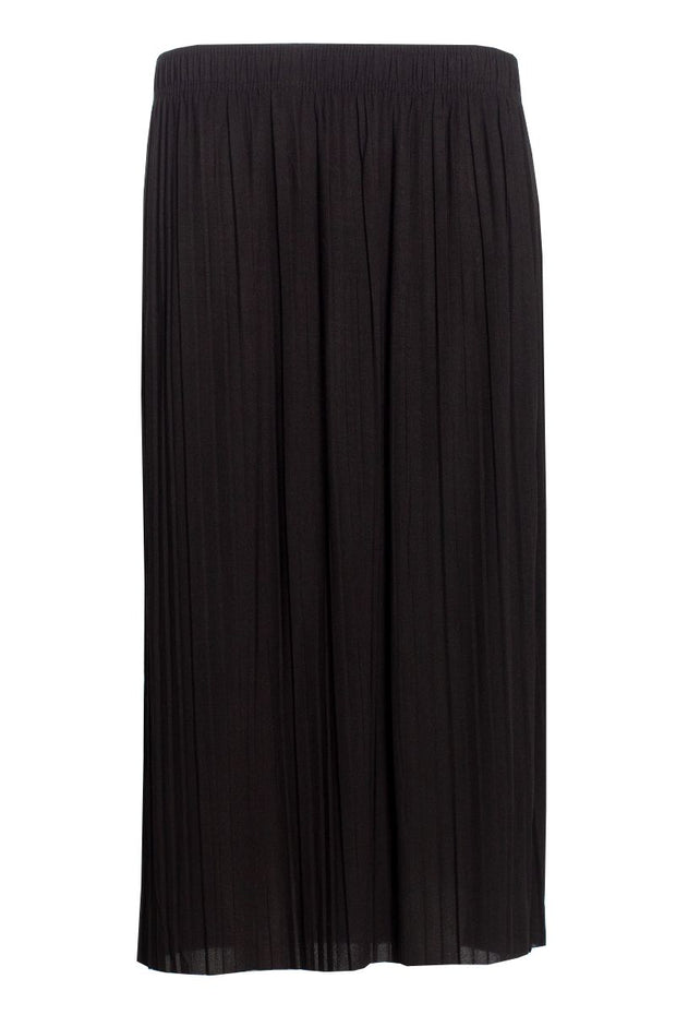Pleated Midi Skirt - Black Womens Skirts FAIRWEATHER S