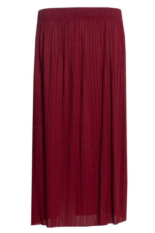 Pleated Midi Skirt - Red Womens Skirts FAIRWEATHER S
