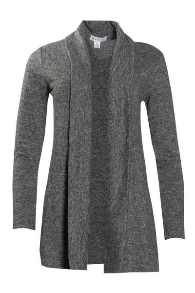 Longline Waterfall Cardigan - Heather Grey