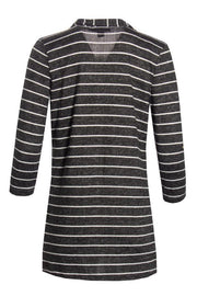 Striped Cardigan - Black Womens Cardigans FAIRWEATHER
