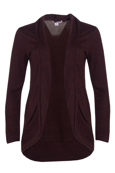 Cocoon Cardigan - Burgundy Womens Cardigans FAIRWEATHER S