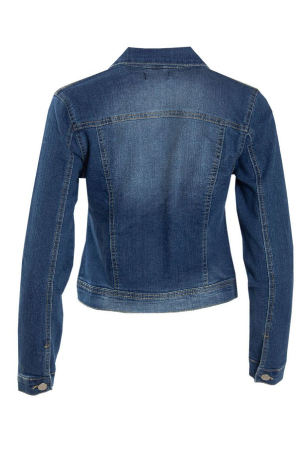 Denim Moto Jacket - Blue Womens Moto Jackets FAIRWEATHER