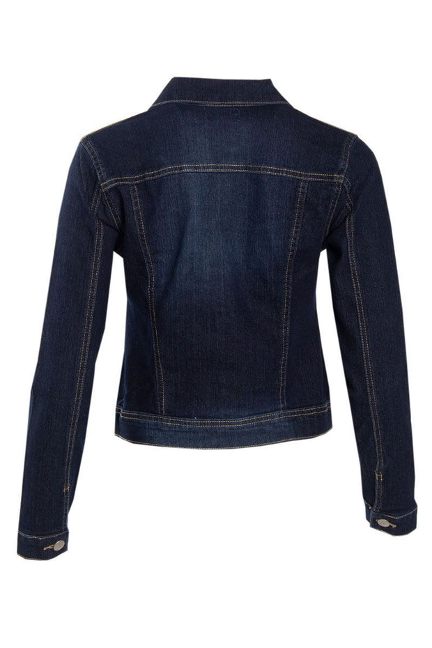 Denim Moto Jacket - Navy Blue Womens Moto Jackets FAIRWEATHER