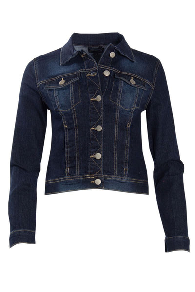 Denim Moto Jacket - Navy Blue Womens Moto Jackets FAIRWEATHER S