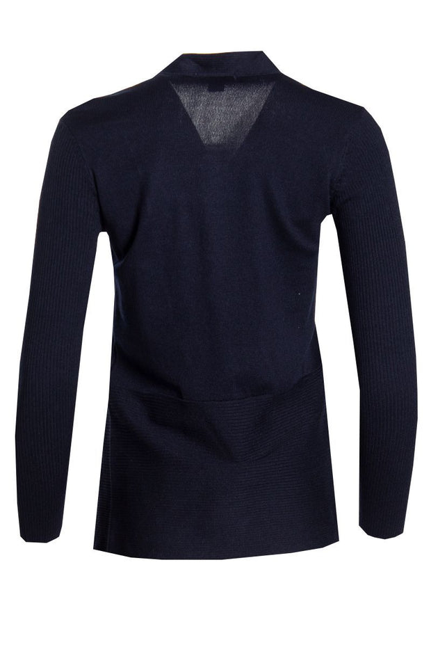 Ribbed Cardigan - Navy Womens Cardigans FAIRWEATHER