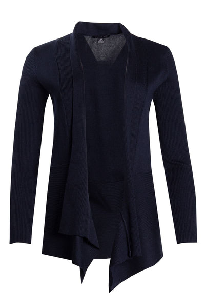 Ribbed Cardigan - Navy Womens Cardigans FAIRWEATHER S