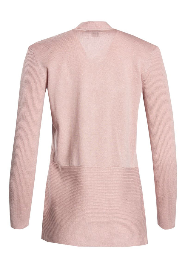 Ribbed Cardigan - Pink Womens Cardigans FAIRWEATHER