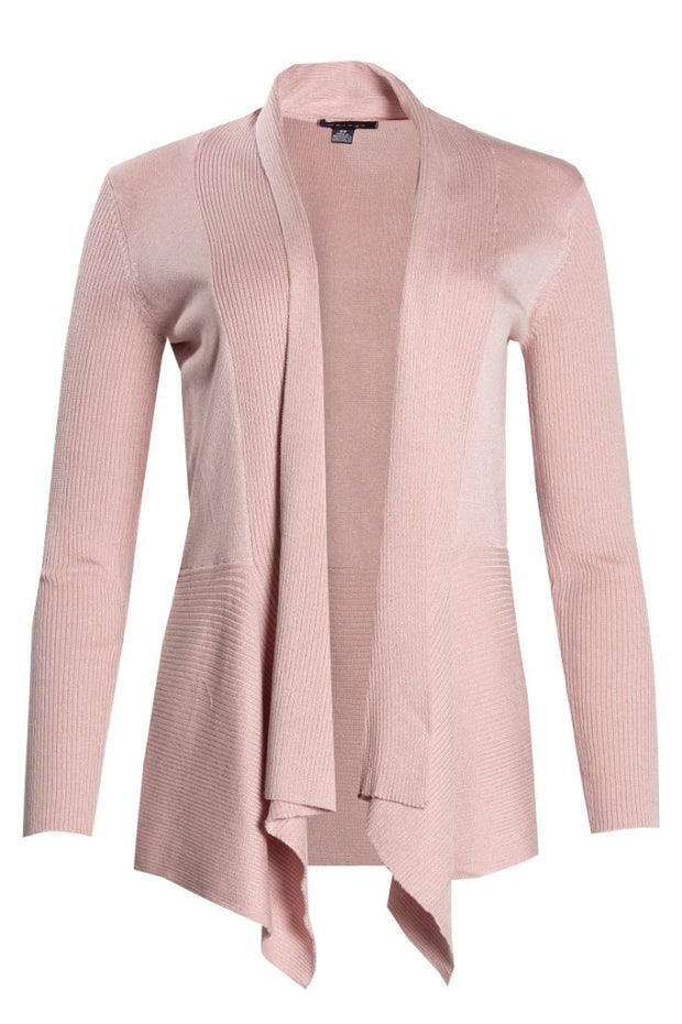 Ribbed Cardigan - Pink Womens Cardigans FAIRWEATHER S