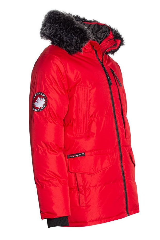 Canada Weather Gear Parka Jacket - Red Mens Parka Jackets INTERNATIONAL CLOTHIERS