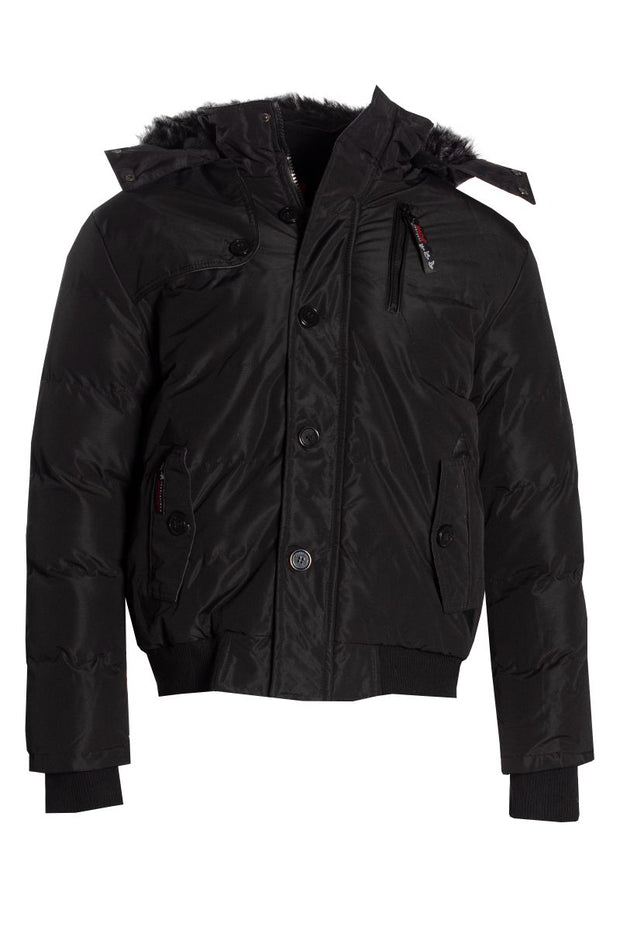 Canada Weather Gear Bomber Jacket - Black Mens Bomber Jackets INTERNATIONAL CLOTHIERS S