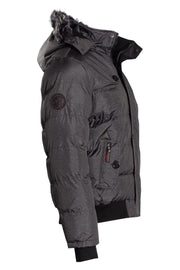 Canada Weather Gear Bomber Jacket - Grey Mens Bomber Jackets INTERNATIONAL CLOTHIERS