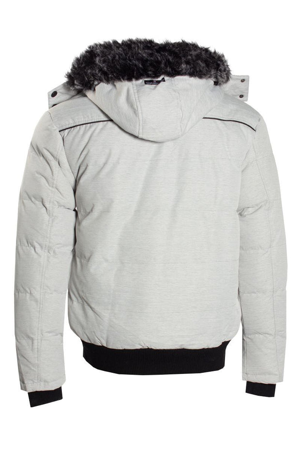 Canada Weather Gear Bomber Jacket - White Mens Bomber Jackets INTERNATIONAL CLOTHIERS