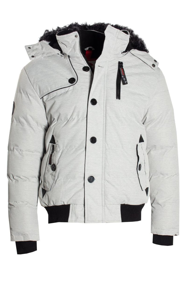 Canada Weather Gear Bomber Jacket - White Mens Bomber Jackets INTERNATIONAL CLOTHIERS S