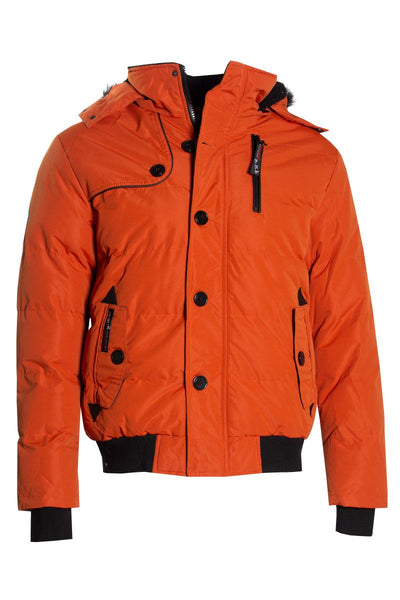 Canada Weather Gear Bomber Jacket - Orange Mens Bomber Jackets INTERNATIONAL CLOTHIERS S