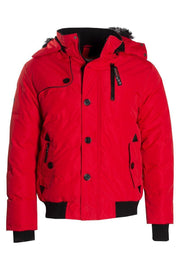 Canada Weather Gear Bomber Jacket - Red Mens Bomber Jackets INTERNATIONAL CLOTHIERS S