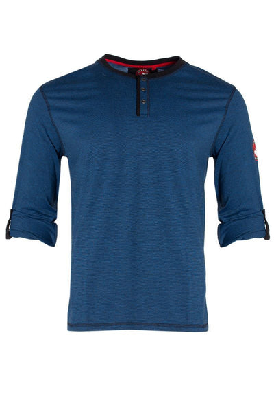 Canada Weather Gear Long Sleeve Top - Blue Long Sleeve Tops INTERNATIONAL CLOTHIERS S