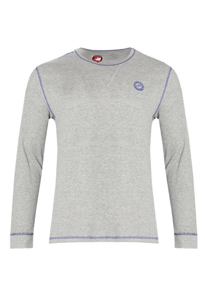Canada Weather Gear Long Sleeve Top - Grey Mens Long Sleeve Tops INTERNATIONAL CLOTHIERS S