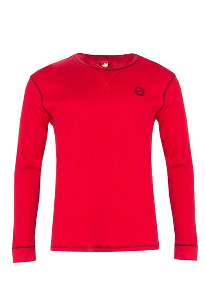 Canada Weather Gear Long Sleeve Top - Red Mens Long Sleeve Tops INTERNATIONAL CLOTHIERS S