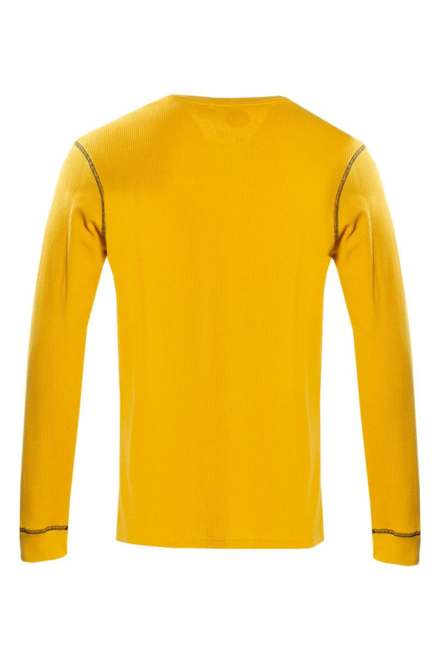 Canada Weather Gear Long Sleeve Top - Yellow Mens Long Sleeve Tops INTERNATIONAL CLOTHIERS