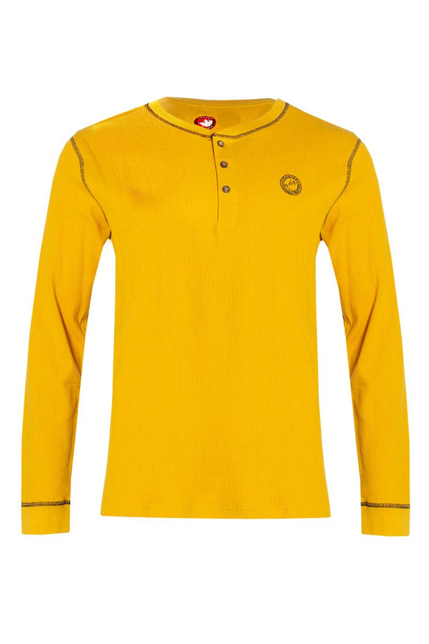 Canada Weather Gear Long Sleeve Top - Yellow Mens Long Sleeve Tops INTERNATIONAL CLOTHIERS S