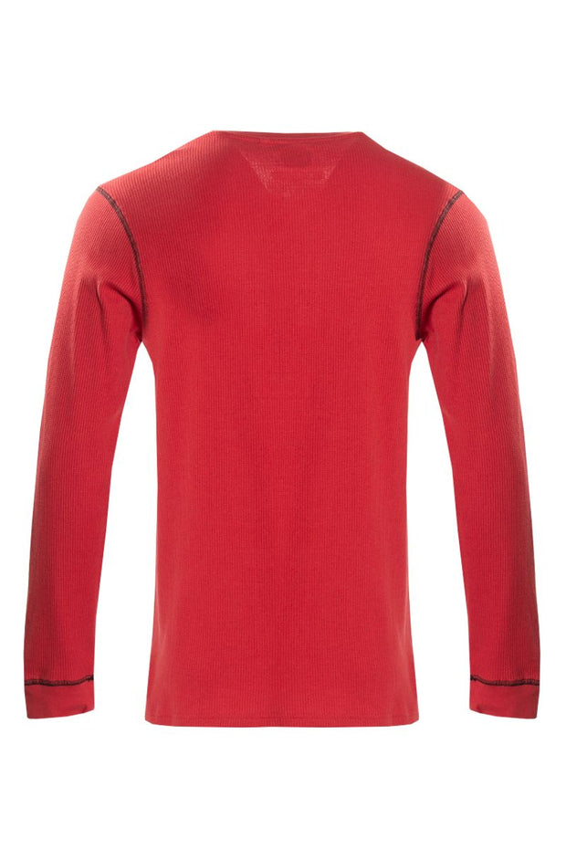 Canada Weather Gear Long Sleeve Top - Red Mens Long Sleeve Tops INTERNATIONAL CLOTHIERS