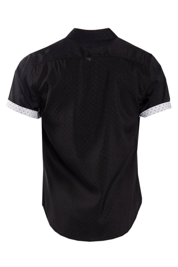 Button-Up Casual Shirt - Black Mens Casual Shirts INTERNATIONAL CLOTHIERS
