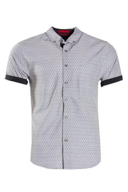 Button-Up Casual Shirt - White Mens Casual Shirts INTERNATIONAL CLOTHIERS S