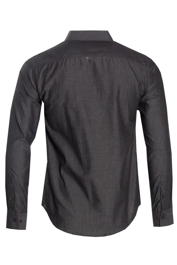 Button-Up Casual Shirt - Charcoal Grey Mens Casual Shirts INTERNATIONAL CLOTHIERS