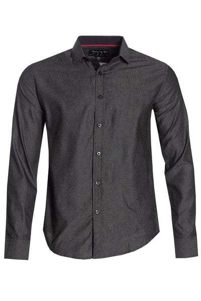 Button-Up Casual Shirt - Charcoal Grey Mens Casual Shirts INTERNATIONAL CLOTHIERS S