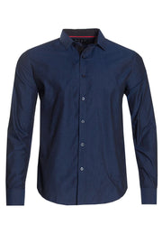 Button-Up Casual Shirt - Blue Mens Casual Shirts INTERNATIONAL CLOTHIERS S