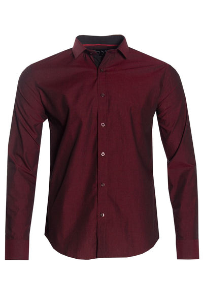 Button-Up Casual Shirt - Red Mens Casual Shirts INTERNATIONAL CLOTHIERS S