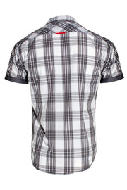 Plaid Button-Up Casual Shirt - White Mens Casual Shirts INTERNATIONAL CLOTHIERS