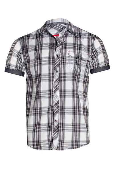 Plaid Button-Up Casual Shirt - White Mens Casual Shirts INTERNATIONAL CLOTHIERS S