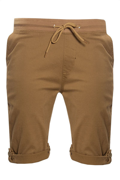 Tied Waist Shorts - Brown Mens Shorts & Capris INTERNATIONAL CLOTHIERS S